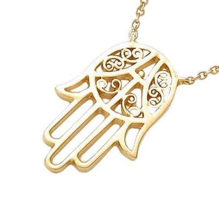Collier chaîne pendentif main khamsa 40+2+2 cm plaqué or 750 couleur unique So Chic Bijoux | La Redoute À La Mode gasmGQXO