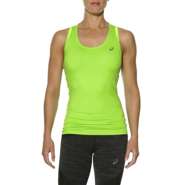 asics t shirt femme verte