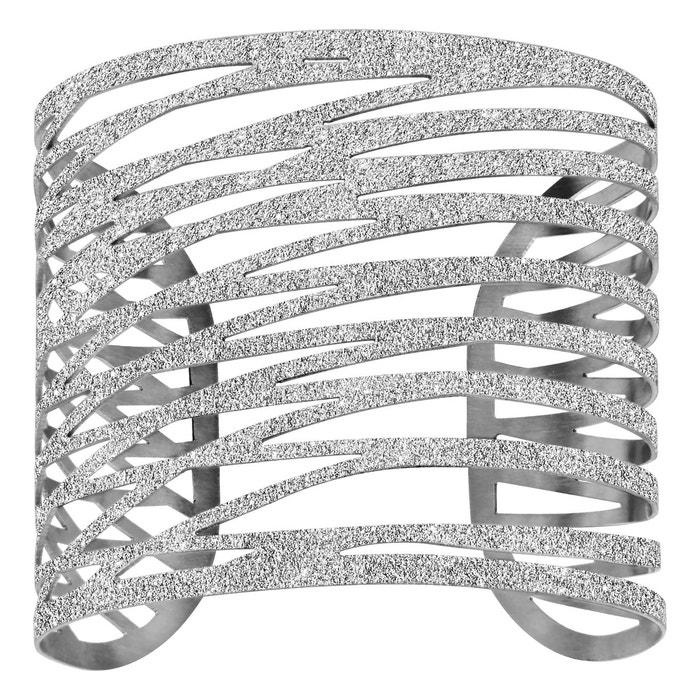 Vente 2018 Unisexe Bracelet manchette aspect granit fantaisie acier inoxydable couleur unique So Chic Bijoux | La Redoute Livraison Rapide Réduction Vente Abordable 8xTOy