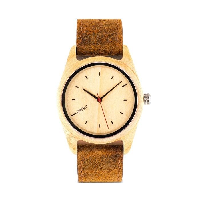 Montre en bois toundra bracelet cuir D.W.Y.T Watch | La Redoute Professionnel Vente Style De Mode Pas Cher Sortie Ebay Prix D'usine À Vendre Pas Cher En Ligne 8E6FaP
