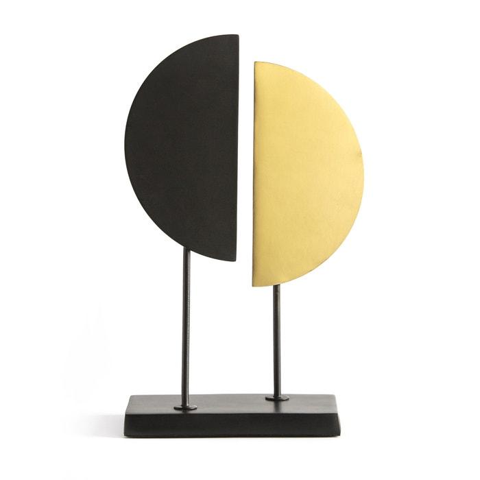 Metaal en koper sculptuur marami zwart/messing La Redoute Interieurs ...