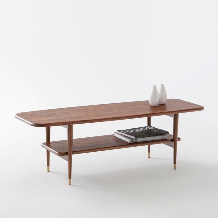 Watford solid walnut coffee table walnut la redoute - La redoute table de nuit ...