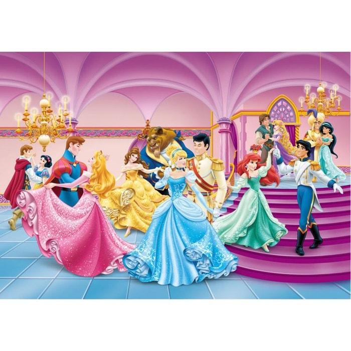 Papier peint prince et princesse disney 180x255 cm multicolor