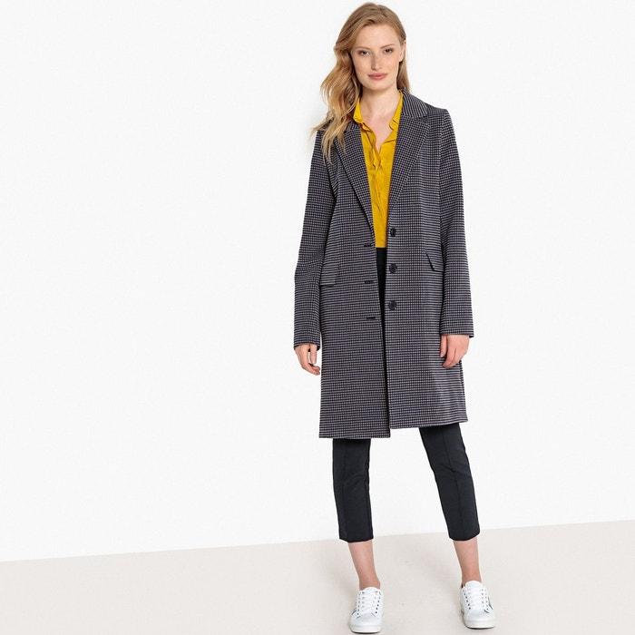 Manteau mi-long à carreaux  LA REDOUTE COLLECTIONS image 0