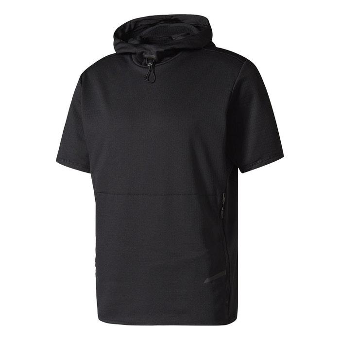 Haut hooded workout noir Adidas Performance