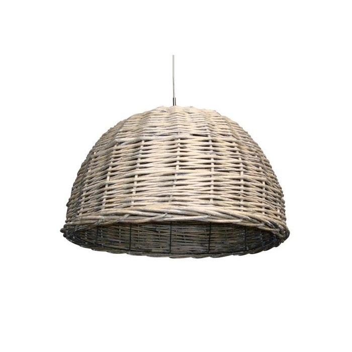 suspension luminaire rotin tress dune beige millumine la redoute. Black Bedroom Furniture Sets. Home Design Ideas