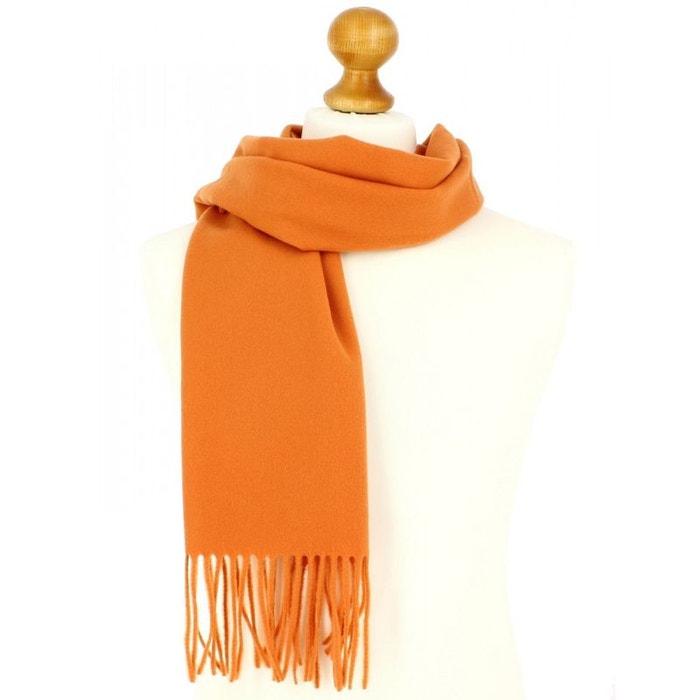 Echarpe clémentine luxe unie en laine d'australie, 37x180cm orange Tony Et Paul | La Redoute