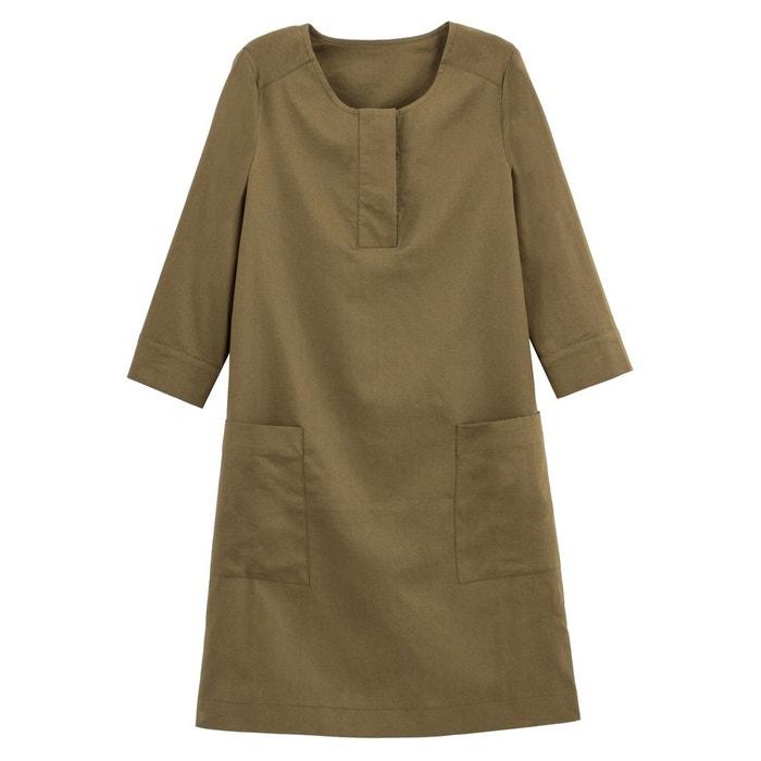 Longue Robe Droite Collections Redoute 34 La Manches Mi rErq7nBz