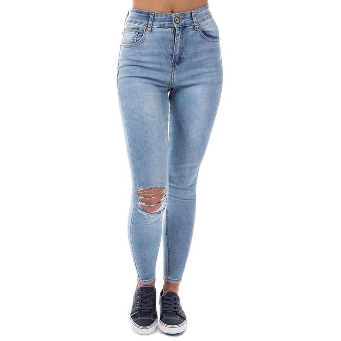 Jean taille haute 5 poches bleu Brave Soul   La Redoute 338503f851aa