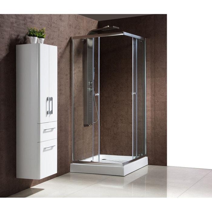 Dolce paroi de douche d 39 angle 90 x 90 x 198 cm blanc concept usine la - Paroi douche angle 90 ...