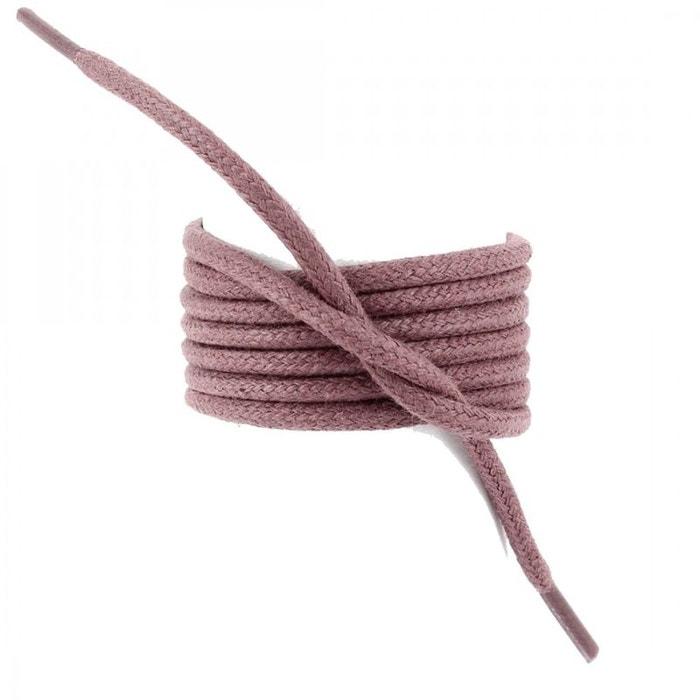 Lacets ronds coton ciré couleur lie de vin  bordeaux Les Lacets Francais  La Redoute