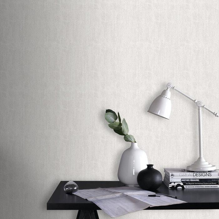 Blanc Paillettes Uni Papier Peint Intisse 10 M X 52 Cm Blanc Graham