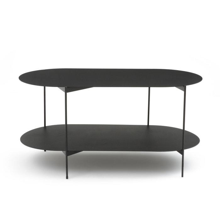 Tavolo basso doppio ripiano in acciaio OBLONE  La Redoute Interieurs image 0