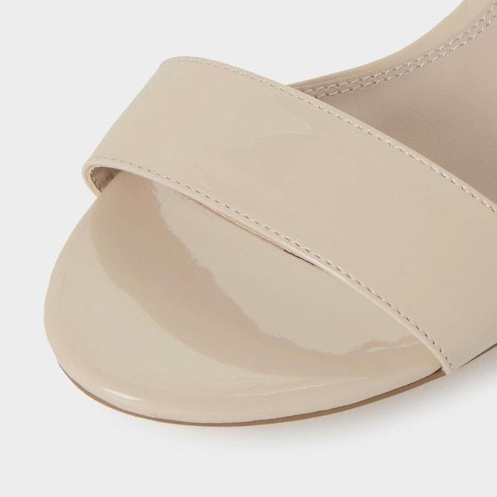 Sandales à talons carrés ornés de bijoux fantaisie - harah chair plain synthetic Dune London