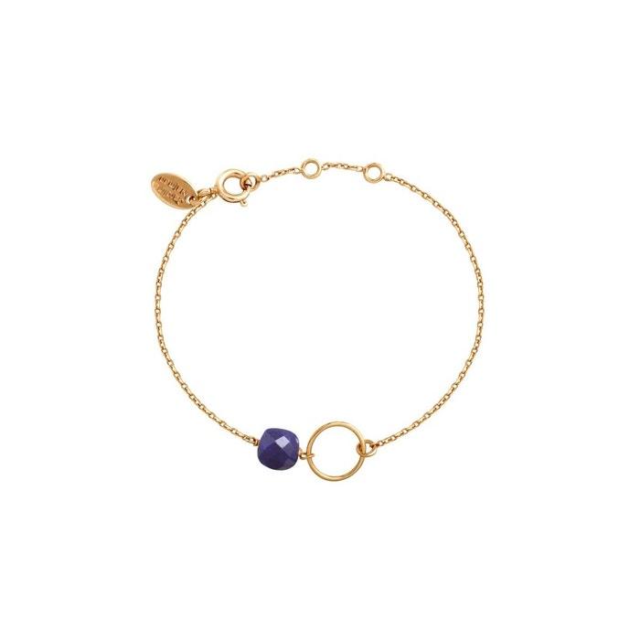 Bracelet doré lapis lazuli fidji bleu Caroline Najman   La Redoute Vente Geniue Stockiste Collections De Prix Pas Cher eLhNPt