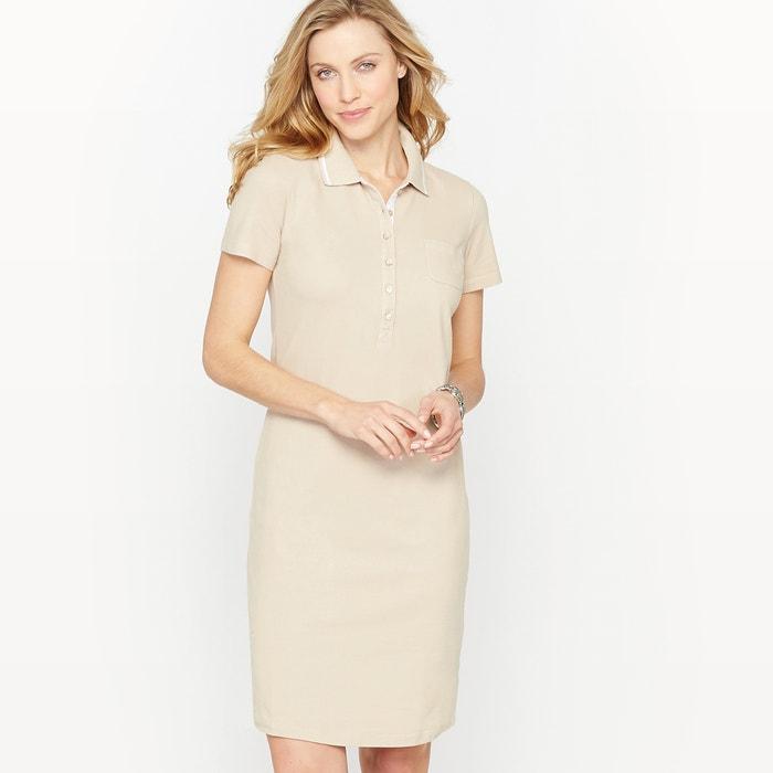 Image Brushed Cotton Piqué Dress ANNE WEYBURN