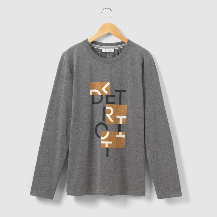 afbeelding Bedrukt T-shirt met lange mouwen 10-16 jr La Redoute Collections