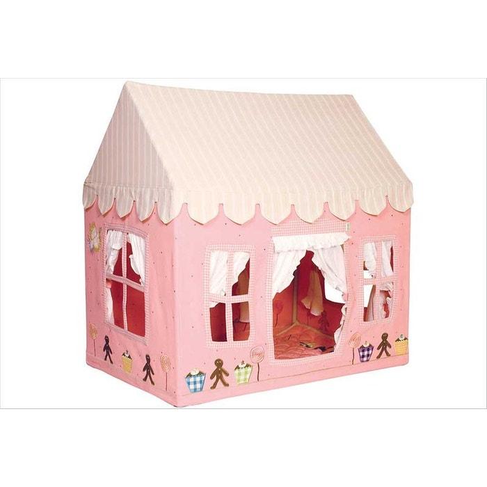 Petite maison en tissu rose pour filles - Win Green