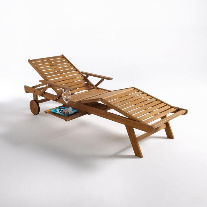bain de soleil avec accoudoirs euka acacia la redoute interieurs la redoute. Black Bedroom Furniture Sets. Home Design Ideas