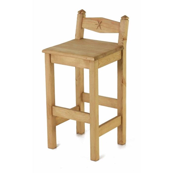 2x chaise plan de travail pin massif sculpt e edelweiss miel couleurs des alpes la redoute. Black Bedroom Furniture Sets. Home Design Ideas