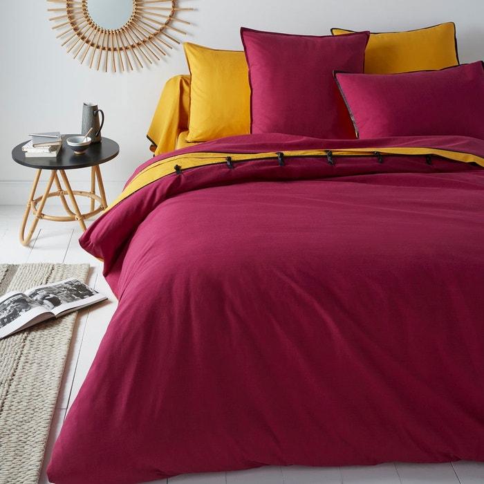 housse de couette ge sha safran pourpre la redoute interieurs la redoute. Black Bedroom Furniture Sets. Home Design Ideas