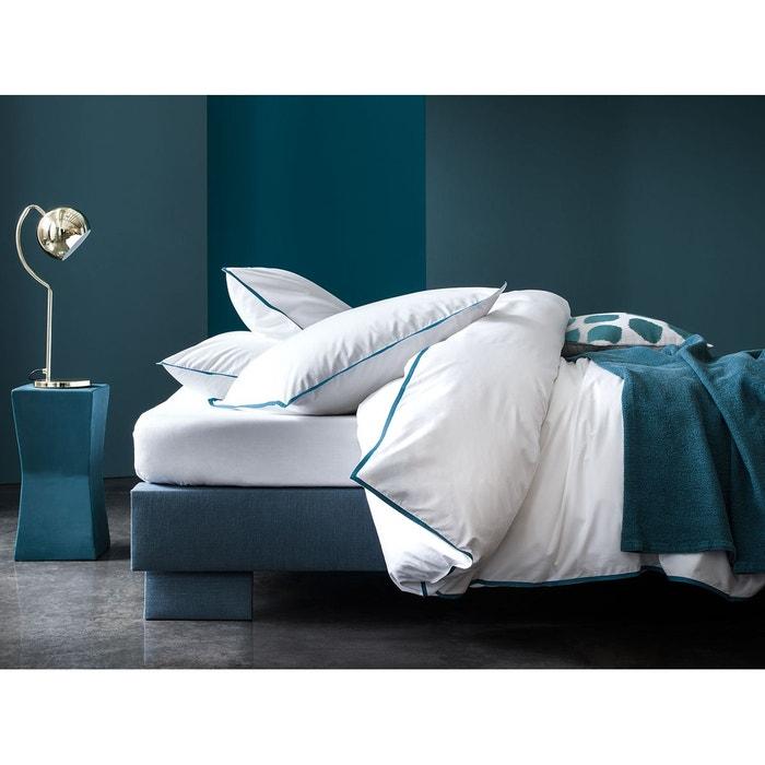 housse de couette percale 120 fils cm uni blanc. Black Bedroom Furniture Sets. Home Design Ideas