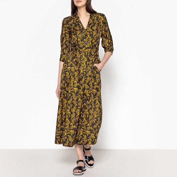 Cantuccio Printed Maxi Dress with Shirt Collar  MOMONI image 0