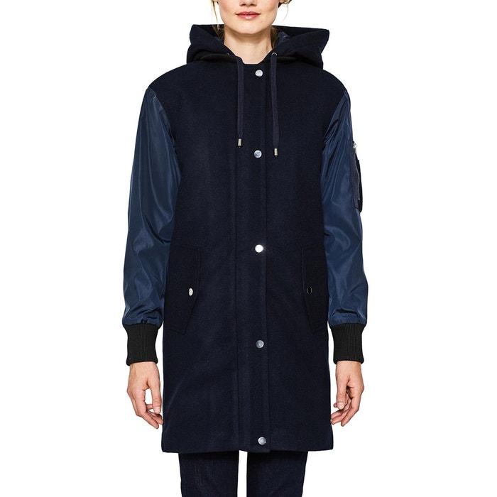 Manteau femme bi-matière à capuche amovible  ESPRIT image 0