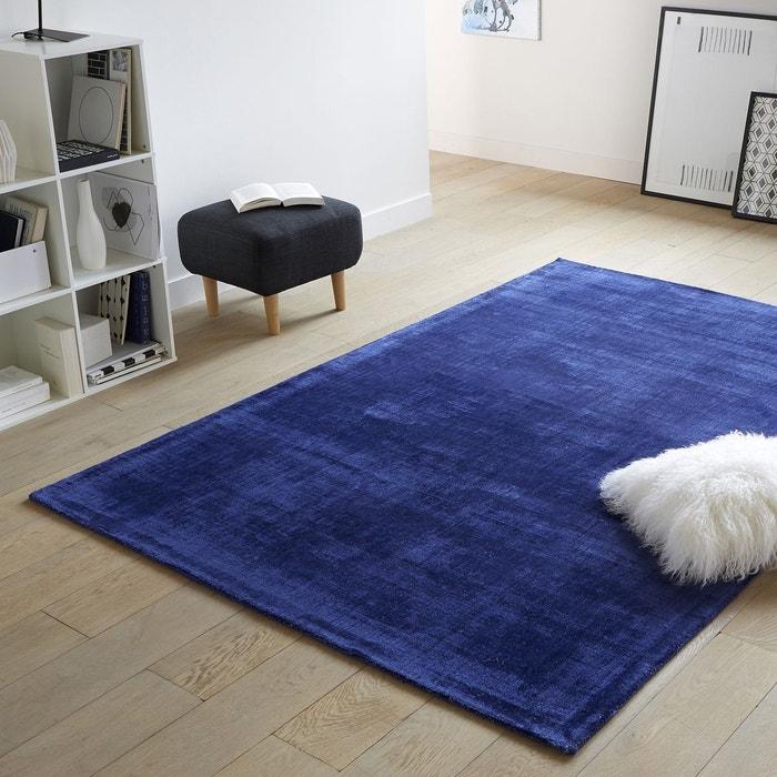 tapis uni effet vieilli 100 viscose izri bleu encre la redoute interieurs la redoute. Black Bedroom Furniture Sets. Home Design Ideas