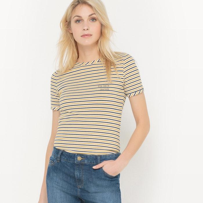 Image Gestreept T-shirt met ronde hals R édition
