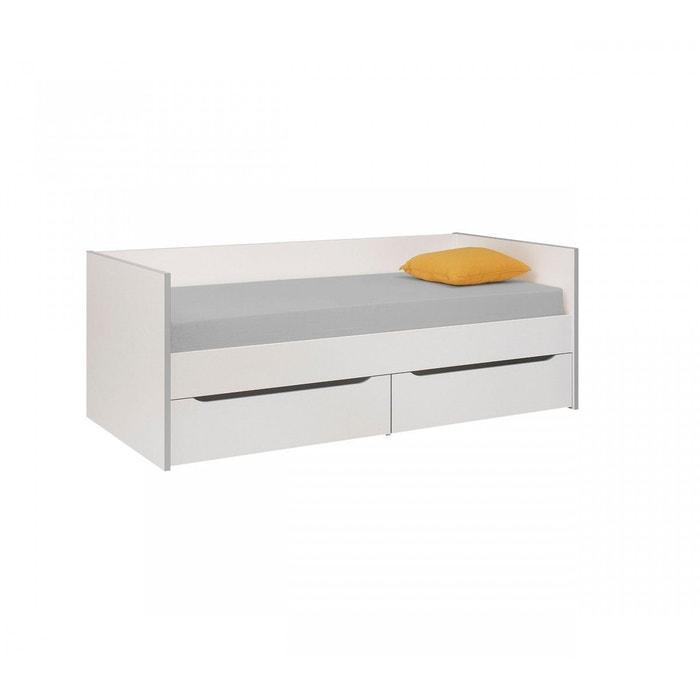 lit banquette enfant blanc gris lb5006 blanc terre de. Black Bedroom Furniture Sets. Home Design Ideas