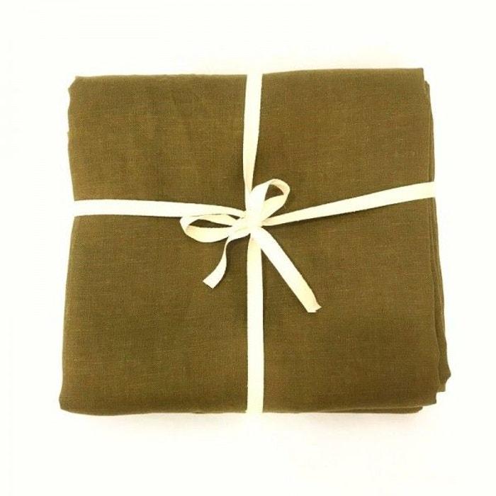 coupon de tissu de lin 3 m tres col bronze marron la. Black Bedroom Furniture Sets. Home Design Ideas