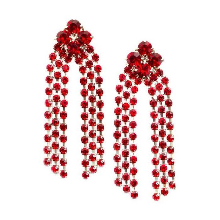 Boucles d'oreilles georgina rouge couleur unique Reine Rosalie | La Redoute Jeu Rabais Sortie Footlocker Finishline 54azhJYKO
