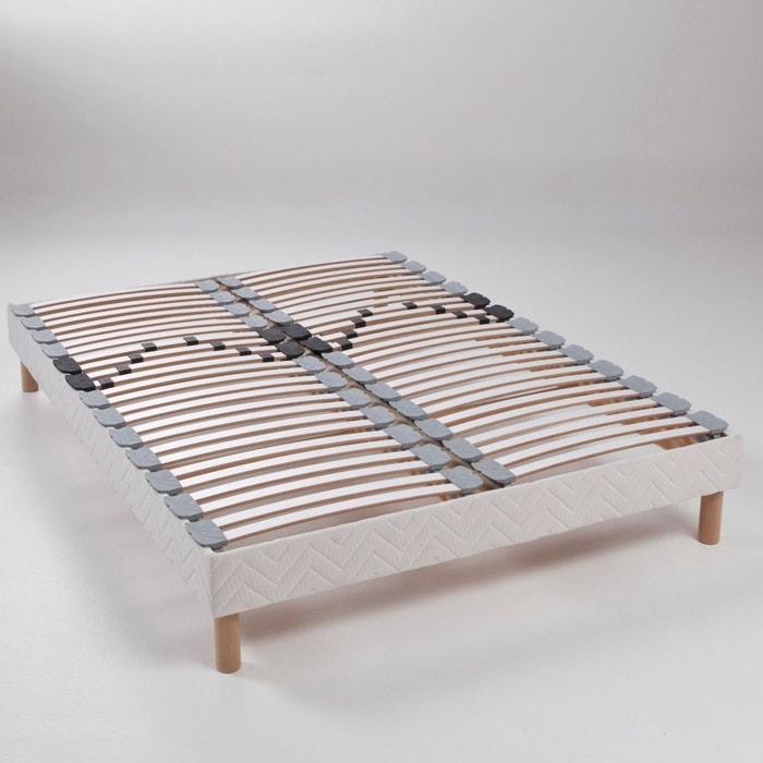 afbeelding Beklede beddenbodem, met zichtbare latten, verstelbaar aan de lage rug REVERIE