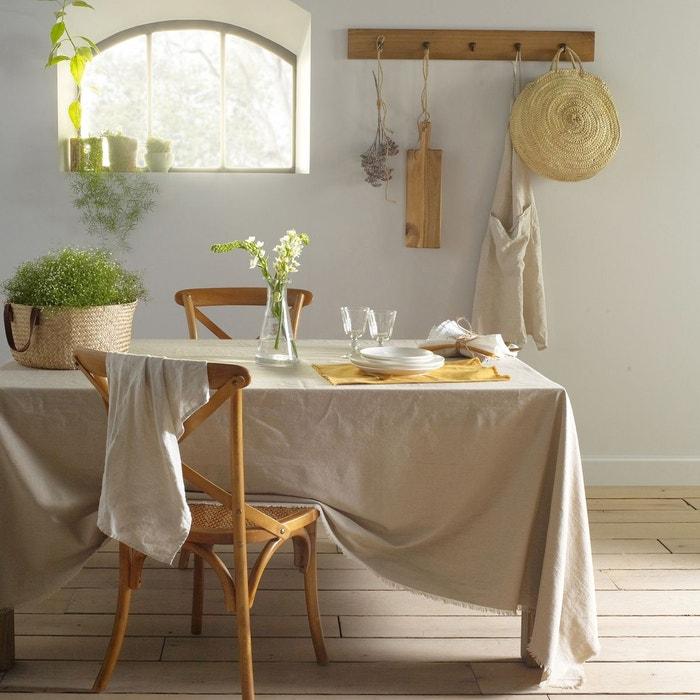 nappe coton lin frang bello la redoute interieurs la. Black Bedroom Furniture Sets. Home Design Ideas
