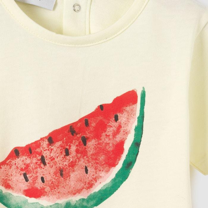 Image T-shirt imprimé pastèque 1 mois - 3 ans La Redoute Collections