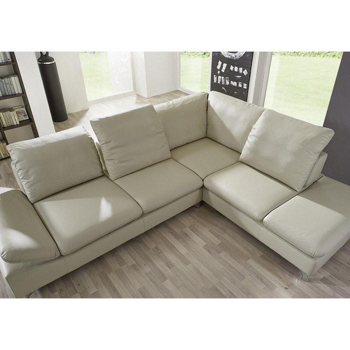 petit canap angle 4 places gentflex blanc cass seanroyale la redoute. Black Bedroom Furniture Sets. Home Design Ideas