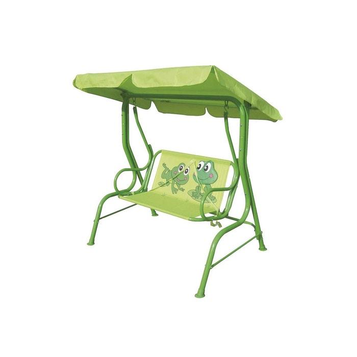 Balancelle de jardin enfant grenouille - l. 115 cm - vert vert ...