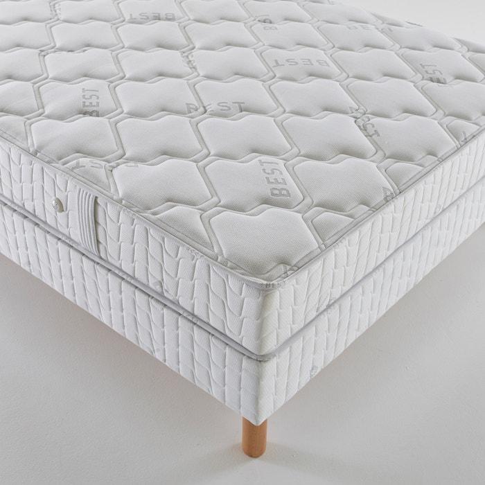 ensemble matelas latex confort prestige tr s ferme sommier blanc reverie la redoute. Black Bedroom Furniture Sets. Home Design Ideas