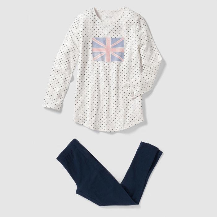 Imagen de Pijama compuesto por camisón y leggings 10-16 años La Redoute Collections