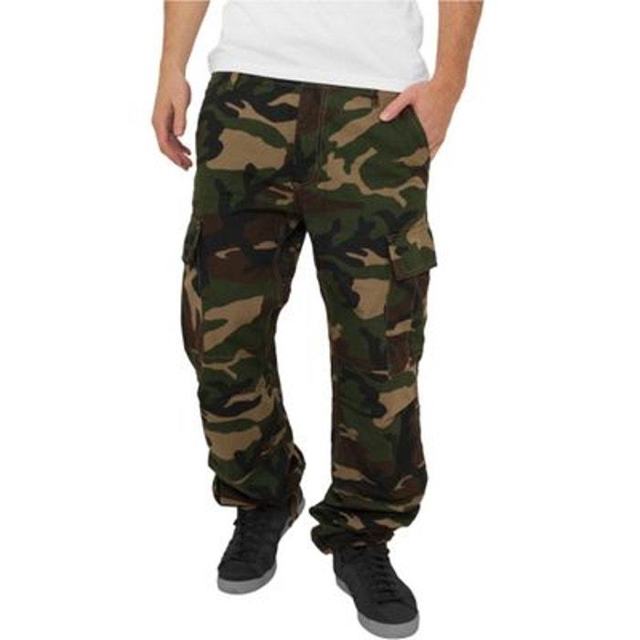 pantalon cargo urban classics camouflage militaire ribstop antid chirure vert urban classics. Black Bedroom Furniture Sets. Home Design Ideas