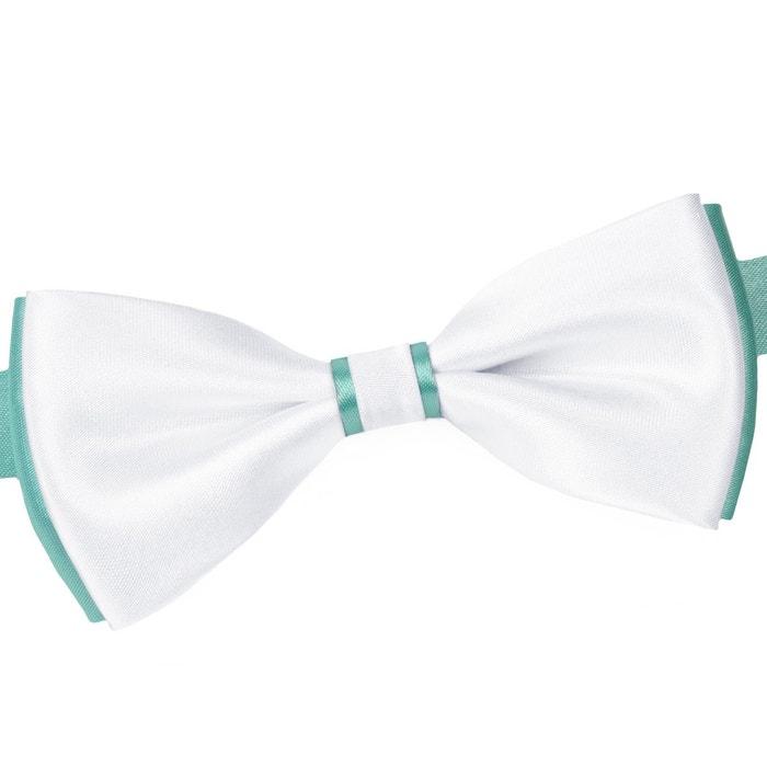 Trouver Une Grande Ligne Pas Cher Vente Frais Discount Noeud papillon becool blanc sur turquoise blanc Dandytouch   La Redoute Meilleur Endroit BETlVcr2bh
