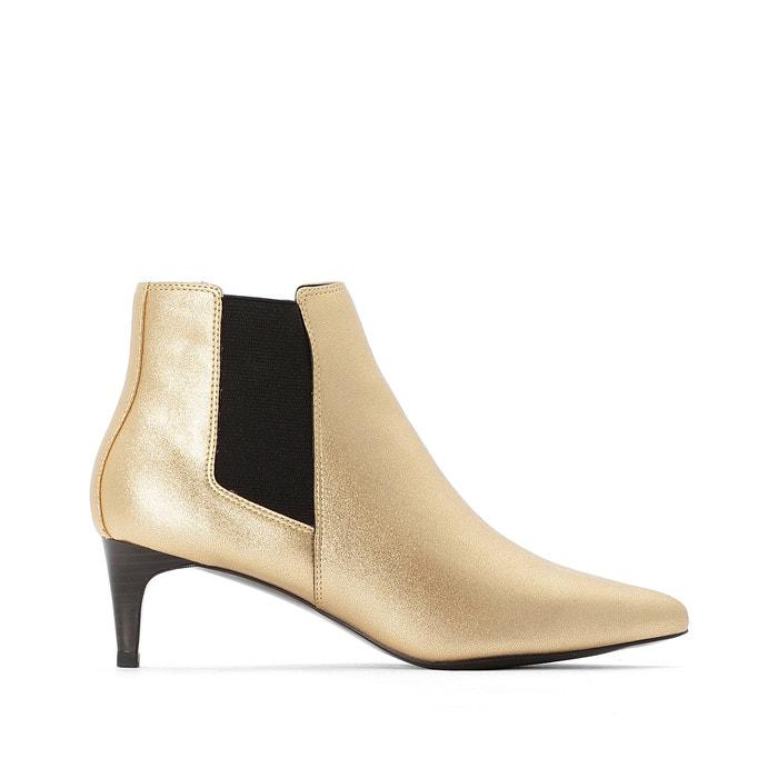 Boots metallic en elastisch, scherpe top  LA REDOUTE COLLECTIONS image 0