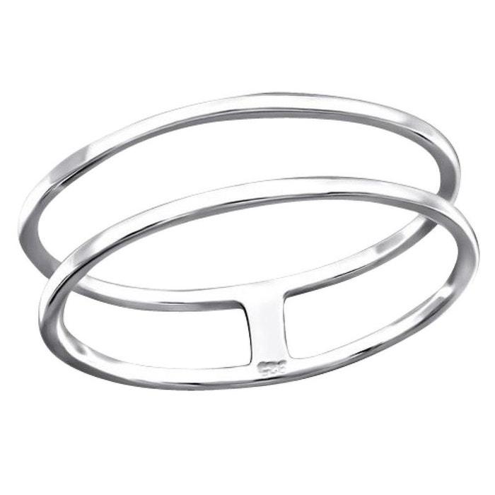 27c3a20ac7d Bague anneau double lié argent 925 argenté So Chic Bijoux
