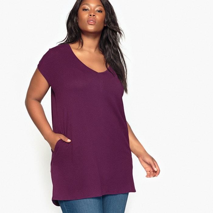 V-Neck Back Buttoned T-Shirt  CASTALUNA image 0
