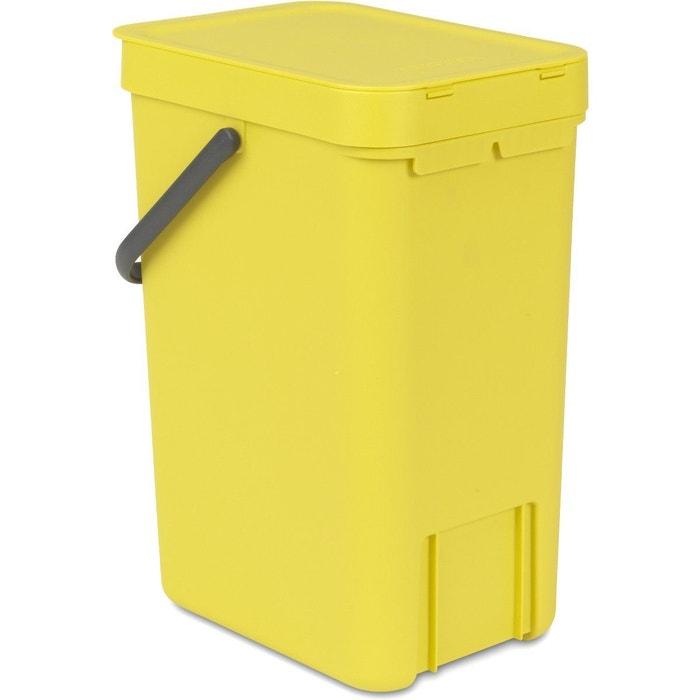 Poubelle brabantia waste bin sort go 1 jaune brabantia - Poubelle cuisine pedale 50l ...