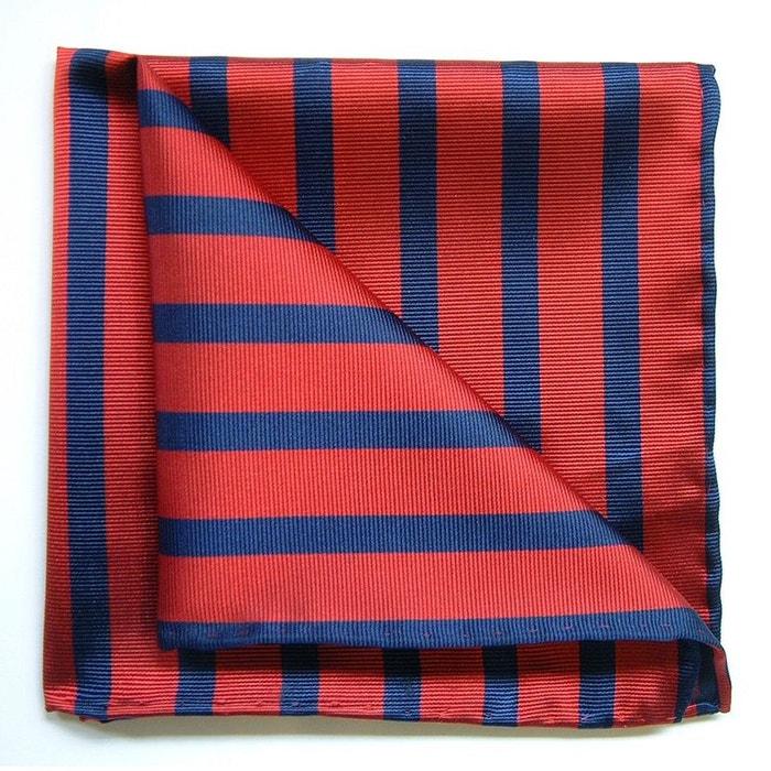 Pochette soie, tyler and tyler, stripe, marine et rouge rouge Tyler Et Tyler | La Redoute