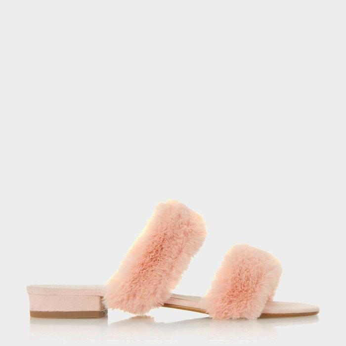 Sandales à deux brides duveteuses - lilliana  rose fausse fourrure Dune London  La Redoute