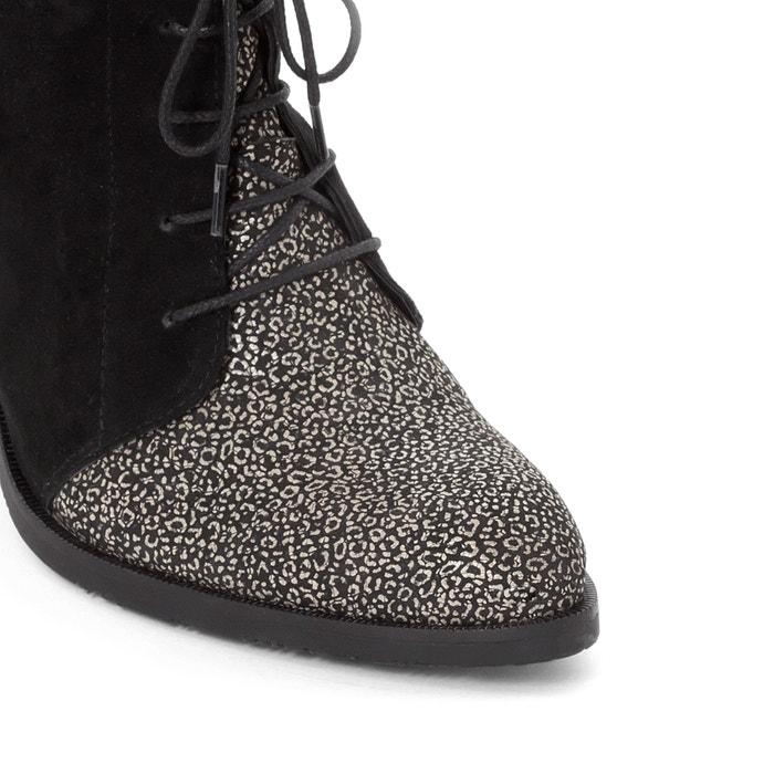 Image Boots cuir kitten heel DKODE