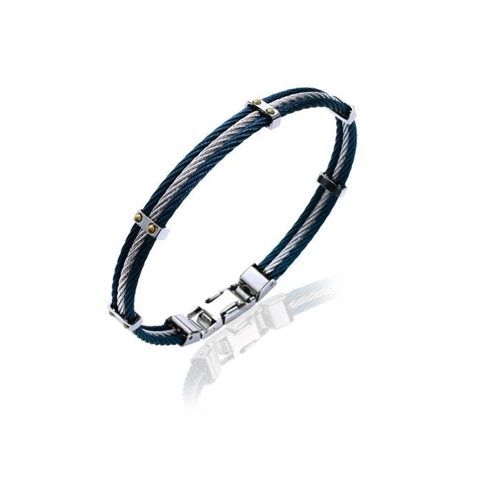 Acheter Pas Cher Prix Le Moins Cher Pas Cher Bracelet acier pour homme effet câble Lorenzo R | La Redoute Grande Vente Manchester Faux Prix Pas Cher boutique tmajCj3An